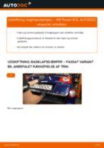 Udskift bagklapsdæmper - VW Passat 3C B6 Variant   Brugeranvisning