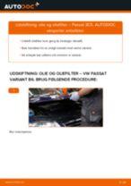 Udskift motorolie og filter - VW Passat 3C B6 Variant | Brugeranvisning
