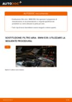 Come cambiare è regolare Filtro aria motore BMW 5 SERIES: pdf tutorial