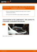 Come cambiare filtro carburante su Opel Zafira F75 - Guida alla sostituzione
