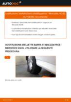 Cambiare Biellette Barra Stabilizzatrice MERCEDES-BENZ B-CLASS: manuale tecnico d'officina