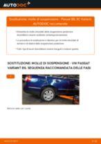 Come cambiare molle di sospensione della parte posteriore su VW Passat 3C B6 Variant - Guida alla sostituzione