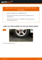 Fitting Stabilizer bar link BMW 5 (E39) - step-by-step tutorial
