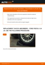 How to change rear shock absorbers on Ford Fiesta V JH JD – replacement guide