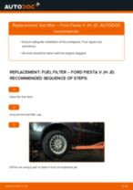 Auto mechanic's recommendations on replacing FORD Ford Fiesta Mk6 1.4 TDCi Fuel Filter