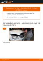 Replacing Air Filter MERCEDES-BENZ B-CLASS: free pdf