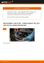 Auto mechanic's recommendations on replacing HONDA Honda Insight ZE2/ZE3 1.3 Hybrid (ZE2) Oil Filter