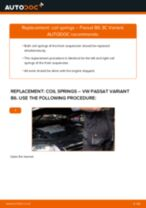 How to replace and adjust Stabilizer bushes VW PASSAT: pdf tutorial