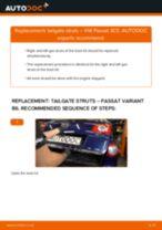 Auto mechanic's recommendations on replacing VW Passat 3B6 1.8 T 20V Tailgate Struts