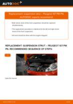 Replacing Anti roll bar bush kit PEUGEOT 107: free pdf
