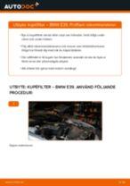 Byta kupéfilter på BMW E39 – utbytesguide