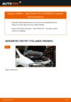 Byta luftfilter på Opel Zafira F75 – utbytesguide