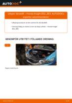 DENSO D135 för INSIGHT (ZE_)   PDF instruktioner för utbyte