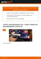 Byta gasfjäder baklucka på VW Passat 3C B6 Variant – utbytesguide