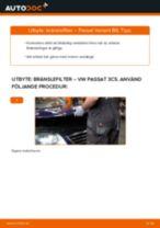 Steg-för-steg-guide i PDF om att byta Bränslefilter i VW PASSAT Variant (3C5)