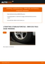 Slik bytter du stabilisatorstag fremme på en BMW E39 – veiledning