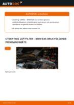 Slik bytter du luftfilter på en BMW E39 – veiledning