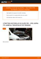 Slik bytter du motorolje og oljefilter på en Opel Zafira F75 – veiledning