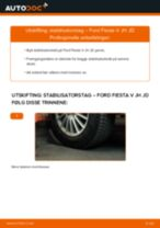 PDF med trinn for trinn-veiledning for bytte av FORD FIESTA V (JH_, JD_) Stabilisatorstag