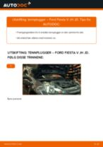 Hvordan bytte Tennplugg FORD FIESTA V (JH_, JD_) - guide online