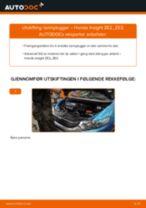 Mekanikerens anbefalinger om bytte av HONDA Honda Insight ZE2/ZE3 1.3 Hybrid (ZE2) Bremseklosser