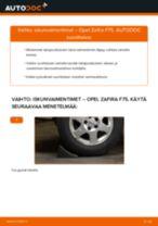 Kuinka vaihtaa iskunvaimentimet taakse Opel Zafira F75-autoon – vaihto-ohje