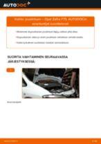 Kuinka vaihtaa joustintuki eteen Opel Zafira F75-autoon – vaihto-ohje