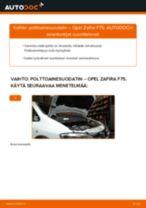 Kuinka vaihtaa polttoainesuodatin Opel Zafira F75-autoon – vaihto-ohje