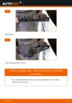 Kuinka vaihtaa pyyhkijänsulat taakse Mercedes W245-autoon – vaihto-ohje