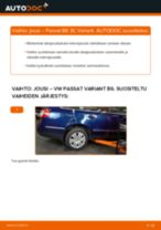 Kuinka vaihtaa jousi taakse VW Passat 3C B6 Variant-autoon – vaihto-ohje