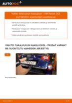 Kuinka vaihtaa takaluukun kaasujousi VW Passat 3C B6 Variant-autoon – vaihto-ohje