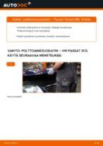 Kuinka vaihtaa polttoainesuodatin VW Passat 3C B6 Variant-autoon – vaihto-ohje