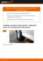 Jak wymienić Drążek wspornik stabilizator przednie lewy MERCEDES-BENZ B-CLASS (W245) - instrukcje online
