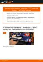 Jak wymienić siłowników klapy bagażnika w VW Passat 3C B6 Variant - poradnik naprawy