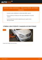 Ako vymeniť predné tyčky stabilizátora na Mercedes W245 – návod na výmenu