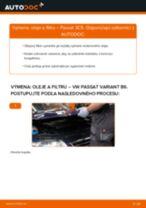 Ako vymeniť motorové oleje a filtre na VW Passat 3C B6 Variant – návod na výmenu