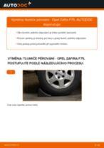 Jak vyměnit zadní tlumiče pérování na Opel Zafira F75 – návod k výměně