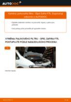 Jak vyměnit palivový filtr na Opel Zafira F75 – návod k výměně