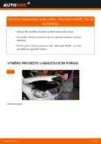 Instalace Sada Na Opravy Brzdový Třmen MERCEDES-BENZ B-CLASS (W245) - příručky krok za krokem