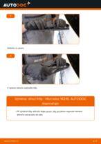 Instalace List stěrače MERCEDES-BENZ B-CLASS (W245) - příručky krok za krokem