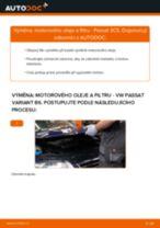 Výměna Brzdové obloženie VW PASSAT: zdarma pdf