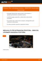 Kako zamenjati avtodel filter notranjega prostora na avtu BMW E39 – vodnik menjave
