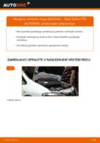 Kako zamenjati avtodel vzmetna noga (blazilnik) spredaj na avtu Opel Zafira F75 – vodnik menjave