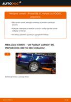 Kako zamenjati avtodel vzmeti zadaj na avtu VW Passat 3C B6 Variant – vodnik menjave