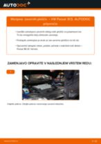 Kako zamenjati avtodel zavorne ploščice zadaj na avtu VW Passat 3C B6 Variant – vodnik menjave