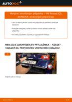 Kako zamenjati avtodel amortizer prtljažnih vrat na avtu VW Passat 3C B6 Variant – vodnik menjave