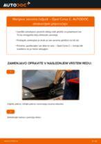 Kako zamenjati avtodel zavorne čeljusti zadaj na avtu Opel Corsa C – vodnik menjave