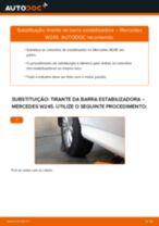 Mudar Tirante da Barra Estabilizadora MERCEDES-BENZ B-CLASS: manual técnico