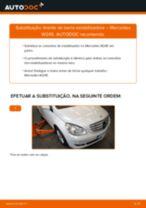 Instalação Pendural da barra estabilizadora MERCEDES-BENZ B-CLASS (W245) - tutorial passo-a-passo