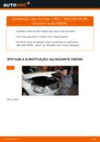 Como mudar óleo do motor e filtro em Mercedes W245 - guia de substituição